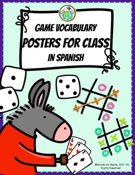 Games Vocabulary Posters & Vocabulary Lists in Spanish