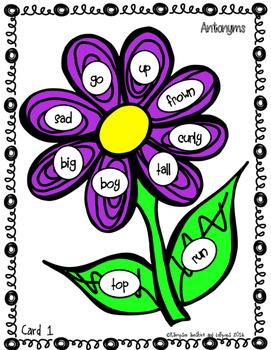 Antonyms Vocabulary Word Work Antonyms are Opposites First Grade