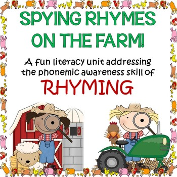 photo relating to Phonemic Awareness Printable Games named Phonemic Understanding: Video games Worksheets For Studying Rhyming Upon The Farm