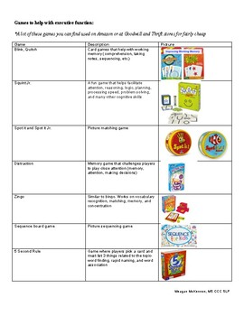 Games and Apps for Executive Function