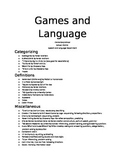 Games and Language