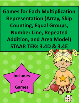 3.4 D 3.4E Games for Each Multiplication Representation STAAR