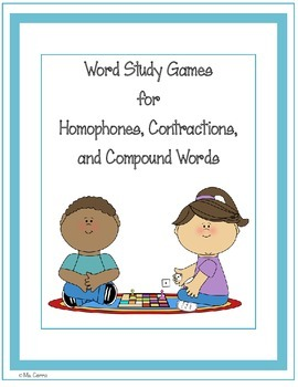 Games for Homophones, Contractions, and Compound Words