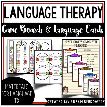 Games for Language and More Games for Language  for speech therapy