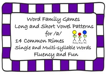 Word Family Games for Long and Short /a/