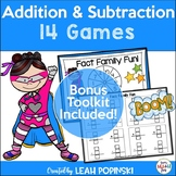 Addition and Subtraction Games - Super Hero Theme