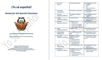 Games for the Spanish Classroom