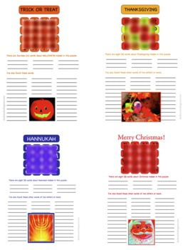 Games like Boggle for Christmas, Hannukah, Halloween and Thanksgiving