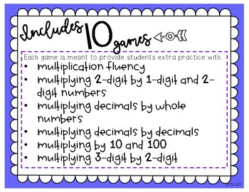 Games to Go: Multiplication Edition