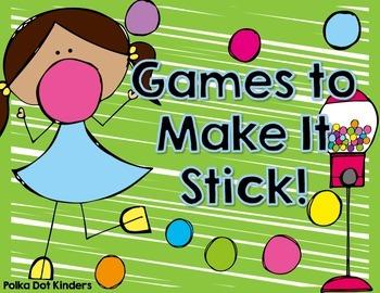 Games to Make It Stick Freebie
