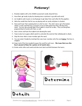 Games to Play with Vocabulary for the SBAC