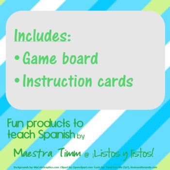 Games to Teach Spanish:  ¿Cuántos hay en tu mochila?