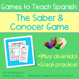 Games to Teach Spanish:  The Saber & Conocer Game