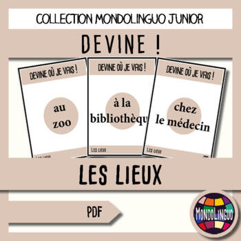 Games to teach French/FFL/FSL: Guess what I'm doing! Lieux/Places