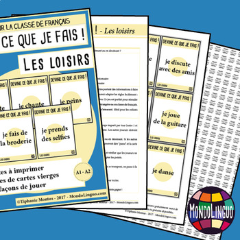 Games to teach French/FFL/FSL: Guess what I'm doing! Loisirs/Hobbies