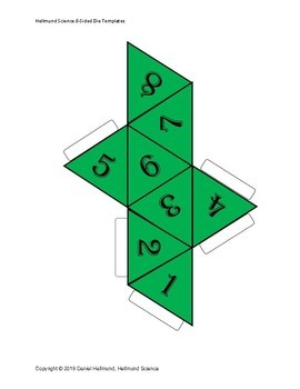 Gamification 8-Sided Dice Templates