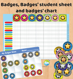 Gamification Elements Badges, Badges Sheet, Badges Point Chart