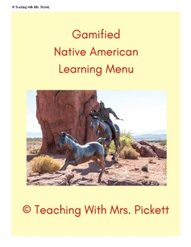 Gamified Native American Learning Menu