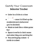 Gamify Your Classroom - behavior tracker