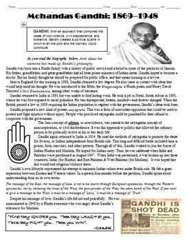 Gandhi Biography and Questions