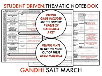 Gandhi - The Salt March 1919-1930 Thematic Notebook #1 W/KEY