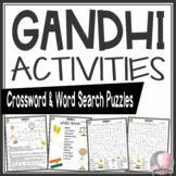Gandhi Crossword and Word Search Find Activities