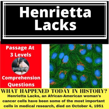 Henrietta Lacks Cells Differentiated Reading Passage, October 4