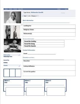 Gandhi's Facebook Page