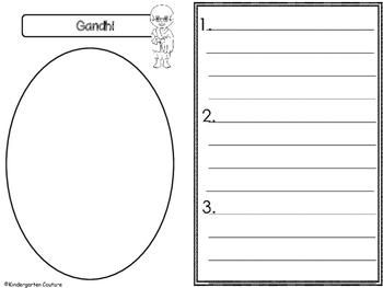 Gandhi Graphic Organizers