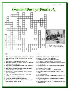 Gandhi Movie Puzzles -- 12 Crosswords in All!