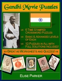 Gandhi Movie Puzzles -- 12 Crosswords in All, Differentiated