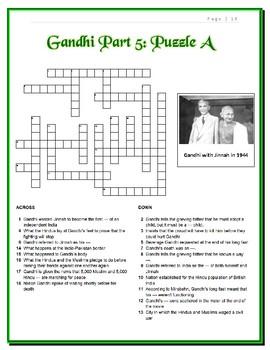 Gandhi Movie Puzzles -- 12 Crosswords in All, Differentiated