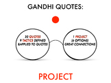 Gandhi Quote Project
