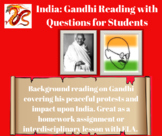 Gandhi Reading with Questions