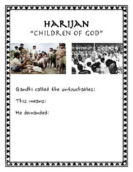 Gandhi Salt March Guided Notes & Resources