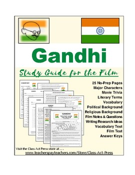 Gandhi: The Study Guide for the Film (25 Pages, Answer Key