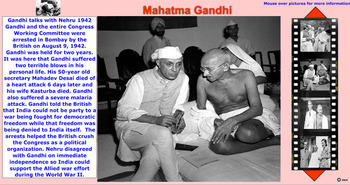 Gandhi Timeline With Activities And On-Line MovieClips - Bill Burton