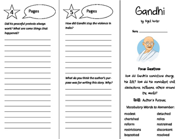 Gandhi Trifold - Imagine It 6th Grade Unit 1 Week 2