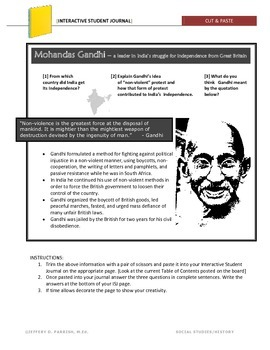 Gandhi Warm-up Activity