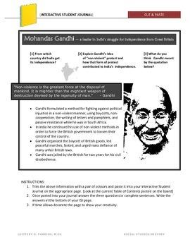 Gandhi Warm-up Activity