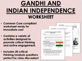 Gandhi and Indian Independence worksheet