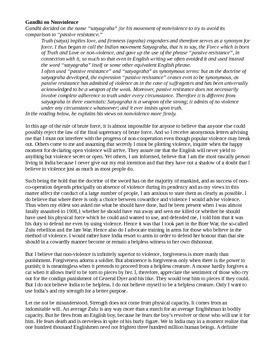 Gandhi on Nonviolence - Primary Source DBQs