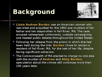 Gangsters & Outlaws - Lizzie Borden, Axe Murderer