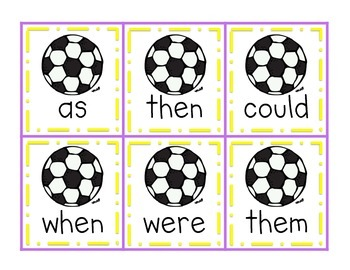 Goal! A Soccer Sight Word Game {Dolch First Grade Words}