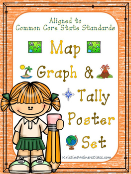 Gaph and Tally Poster Set: Map Pictures