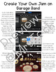 Garage Band Direction Sheet