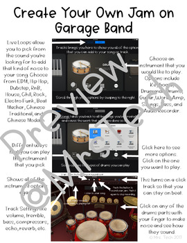 Garage Band Direction Sheet