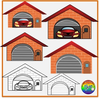 Garage Clipart (My Home Series 2)