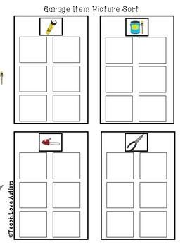 Garage Work Tasks or File Folders