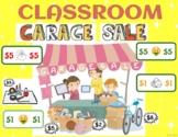 CLASSROOM GARAGE SALE - Income, Spending, Saving & Charity - English and Spanish